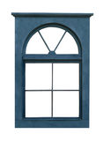 Blue Wooden Window Frame Isolated Stock Images