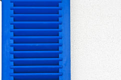 Blue wooden window shutter Stock Photography