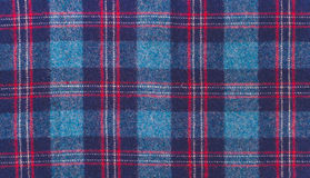 Blue wool checkered fabric Royalty Free Stock Photo