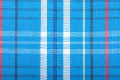 Blue wool fabric texture with cell Royalty Free Stock Photos