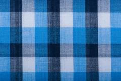 Blue wool fabric texture with cell Royalty Free Stock Photo