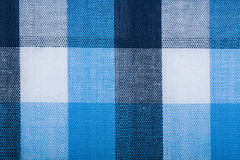 Blue wool fabric texture with cell Royalty Free Stock Image