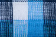 Blue wool fabric texture with cell Stock Photos