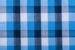 Blue wool fabric texture with cell Stock Photo