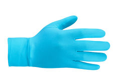 Blue wool glove isolated Stock Photo
