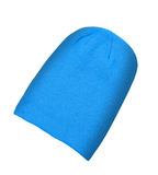 Blue wool hat isolated Stock Photo