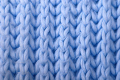 Blue wool knitted background Stock Photography