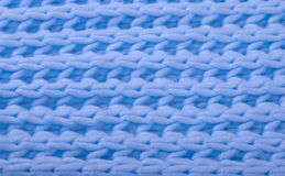 Blue wool knitted texture Royalty Free Stock Images