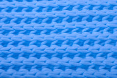 Blue wool knitted texture. Stock Photography