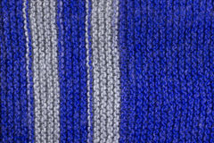 Blue wool knitting Stock Images