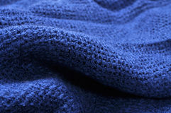 Blue wool scarf Stock Image