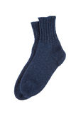 Blue wool socks isolated Royalty Free Stock Images