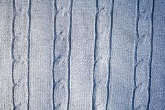 Blue wool texture Royalty Free Stock Images