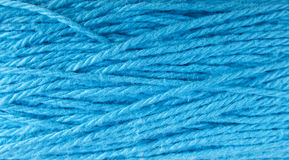 Blue Wool Texture Stock Image
