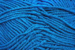 Blue wool threads texture for background Stock Photo