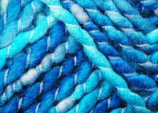Blue wool yarn Royalty Free Stock Image