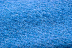 Blue woolen fabric Royalty Free Stock Photography