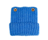 Blue woolen knitted cap Stock Image