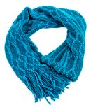 Blue woolen scarf Stock Photography