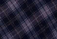 Blue woolen tartan. Royalty Free Stock Image