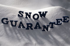 Blue Word Snow Guarantee Royalty Free Stock Image