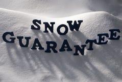 Blue Word Snow Guarantee Royalty Free Stock Image