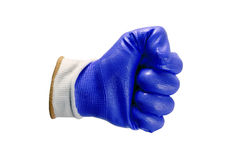 Blue work gloves isolated Royalty Free Stock Photos