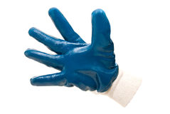 Blue work industrial glove Royalty Free Stock Photos