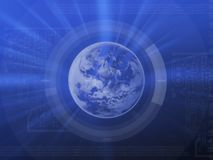 Blue world royalty free stock photography