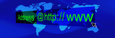 Blue world banner 3 Stock Photo