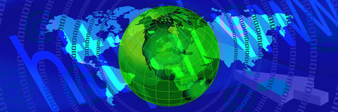 Blue world banner 3 Royalty Free Stock Photos