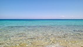 Blue world. Beautiful beach in lefkada Royalty Free Stock Image