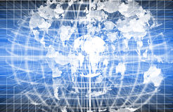 Blue world explosion. Stock Photos