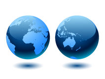 Blue world globe. Stock Images