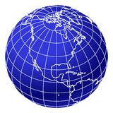 Blue world globe 2 Stock Photo