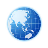 Blue world globe 2 Royalty Free Stock Photography