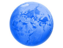 Blue world globe Stock Photography
