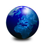 Blue world globe 3 Royalty Free Stock Photo