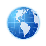 Blue world globe 3 Stock Image