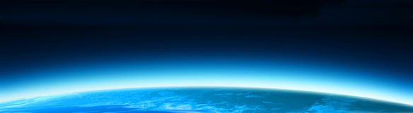 Blue world globe banner Stock Images