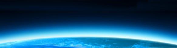 Blue world globe banner vector illustration