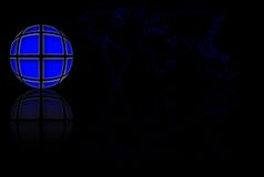 Blue World Globe And Map Royalty Free Stock Photos