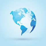 Blue world globe north Royalty Free Stock Photography