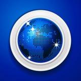 Blue world globe on white frame Stock Image