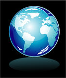 Blue world Icon Stock Image