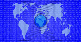 Blue world map Stock Images
