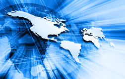 Blue world map Royalty Free Stock Photography