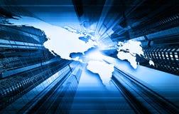 Blue world map Royalty Free Stock Photo