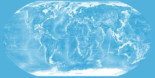Blue world map. Background with a blue and shiny world map Royalty Free Stock Image