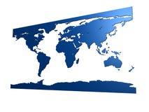 Blue world map Stock Photography